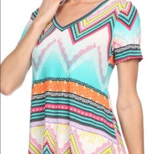 Tops - Never worn multi colored top